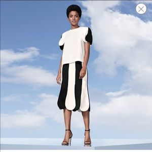 Victoria Beckham for Target Black White Skirt NWOT